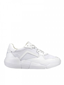 Docksteps - CHUNKY LOW M 080 FABRIC/LEATHER WHITE