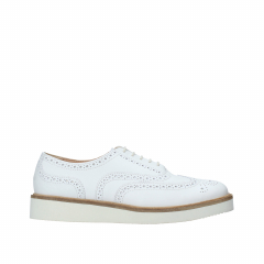 Clarks - BAILLE BROGUE WHITE LEATHER