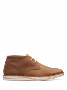 Clarks - FORGE STRIDE TAN LEATHER