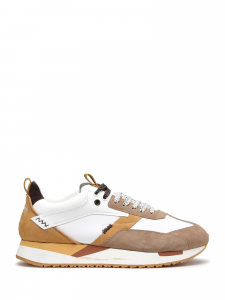 Alberto guardiani - RUNNER 015 LOW M LEATHER/SUEDE WHIT